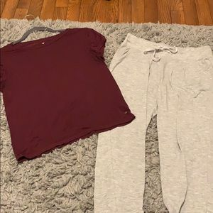 Super soft tee and joggers